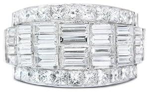Diamond & 18k White Gold Right Hand Ring