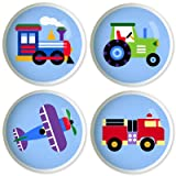 Trains, Planes & Trucks Knob Set by Olive Kids