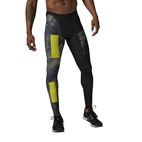 Compressione pantaloni da uomo Reebok Crossfit PWR6 Tight Compression Built con Kevlar, Canopy Green, S, AI1375