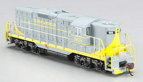 Bachmann Industries Emd Gp7 Diesel Locomotive Clinchfield 908 (With Dynamic Bbrakes, Grey And Yellow) - Dcc On Board