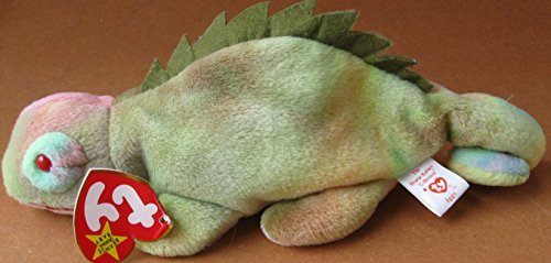 TY Beanie Babies Iggy the Iguana Plush Toy Stuffed Animal - No tongue - 1