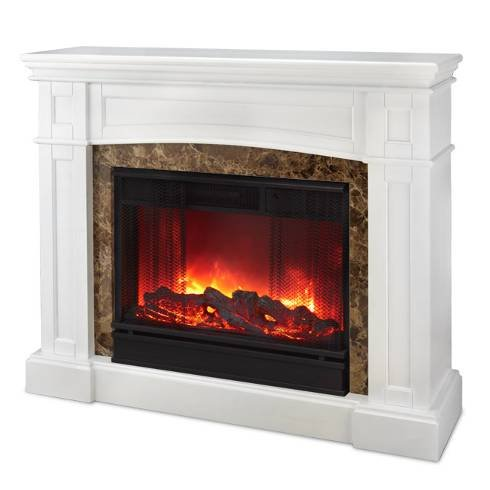 The Scamurra Wall Corner Convertible Ventless Electric Indoor Fireplace White