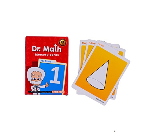 Dr Math (Grade 1) - Logic Roots Memory Flash Cards for Kids to Build Concept Clarity and Recall