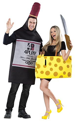 Perfectly Paired Cheese and Wine Adult Couple Costume