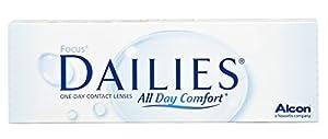 Focus Dailies All Day Comfort Tageslinsen weich, 30 Stück / BC 8.6 mm / DIA 13.8 / -1.5 Dioptrien
