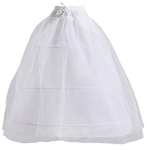 Eyekepper A Line 3 Hoop Bridal Wedding Gown Gauze Petticoat Skirt Slip