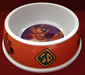 Hanna-Barbera SCOOBY DOO Dog Pet Food or Water Dish AVAILABLE IN 3 SIZES Small Medium & Extra Large (BURNT ORANGE, SMALL)