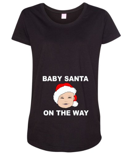 Baby Santa On The Way Women's Maternity T-Shirt