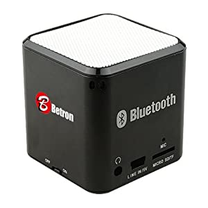 Portable Rechargeable Bluetooth Speaker , Wireless Speaker for iPhone, iPad, iPod, Samsung, Mobile Phones, Tablets PC, Laptops, Ultrabook & more devices(with microphone) (Black)