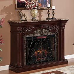 ClassicFlame Astoria Infrared Electric Fireplace Mantel in Empire Cherry - 33WM0194-C232