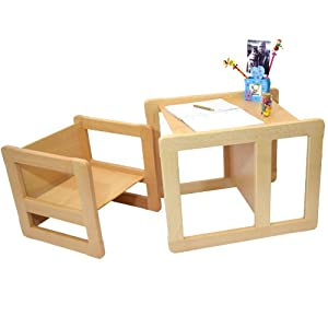 3 En 1 Mobilier Multifunctionnel Pour Enfants Ensemble De