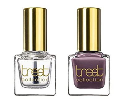 treat collection Natural Nail Polish Duo, Top and Base Coat, The Girls, 2 Count