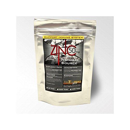 Proteinhaus - Zink Gluconate 60 Tabletten x a 50mg reines Zinc reguliert Blutfettwerte steigert das Immunsystem gut für Haut und Zellregenration mit hoher Bio Verfügbarkeit Shake Anabol Muskelaufbau (60)