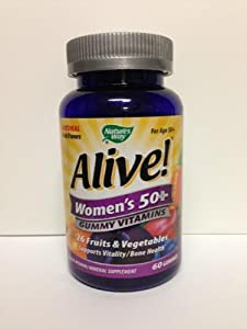 Alive Women's 50 & Over Multivitamin Chewable Gummies, 60 Count