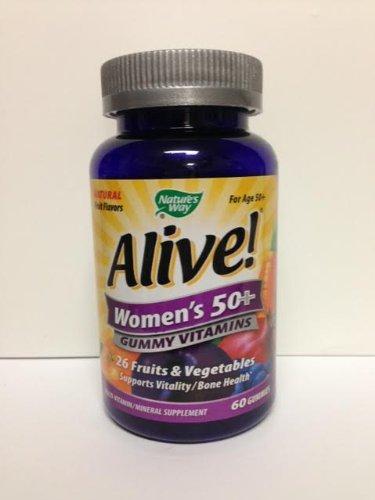 Alive Women's 50 & Over Multivitamin Chewable Gummies, 60 Count