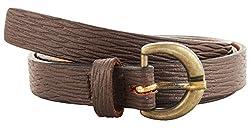 Garvan Women's Brown Leather Belt (LBW 6-Brown-B, Size : 30)
