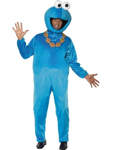 Sesame Street Cookie Monster Costume Unisex Adult Fancy Dress
