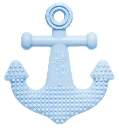 Mayapple Baby - Suri The Octopus And Friends Teether - 1 Silicone Teething Toy - Anchor, Light Blue