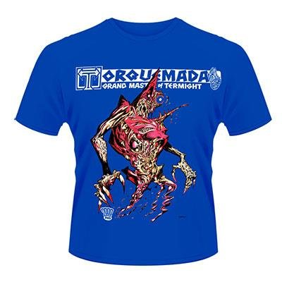 2000AD Nemesis The Warlock Torquemada Official Mens New Blue T Shirt All Sizes