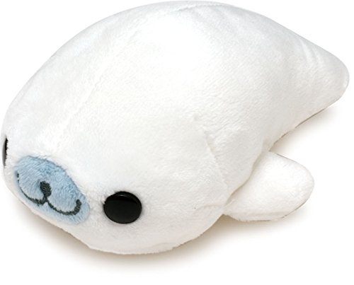 "San-x seal 4.5"" Mamegoma stuffed toy - white - 1"