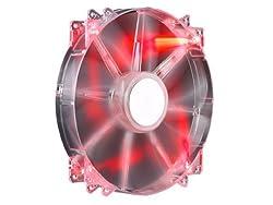 Cooler Master MegaFlow 200mm Red LED Computer Case Fan (R4-LUS-07AR-GP)