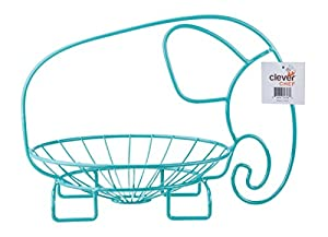 Fruit Bowl Elephant Shaped Party Centerpiece Stainless Steel Wire Aqua
