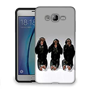 Snoogg Chimpanese Designer Protective Back Case Cover For SAMSUNG ON 7