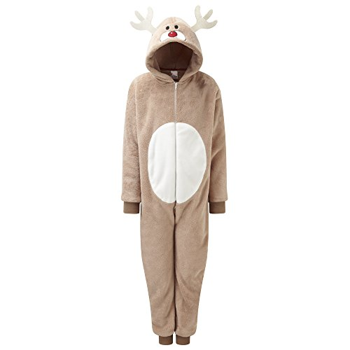 Animal-Crazy-Boys-Supersoft-Fleece-Christmas-Red-Nose-Reindeer-Onesie-Jumpsuit-Playsuit