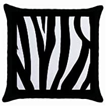 Zebra Animal Black & White Print Custom Throw Pillow Case
