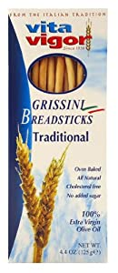 HCG Diet Grissini Breadsticks (Traditional) ,4.4oz