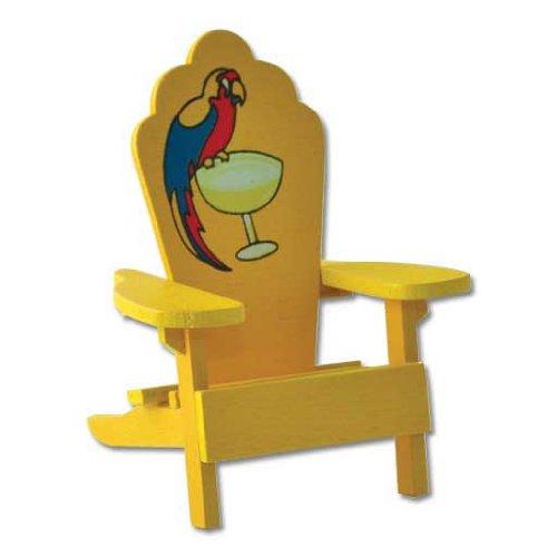 Dollhouse Miniature Parrothead Adirondack Chair
