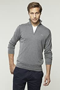 Cotton Cashmere Quarter Zip Sweater