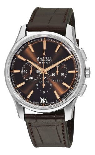 Zenith Men's 03.2110.400/75.C498 El Primero Captain Brown Chronograph Dial Watch