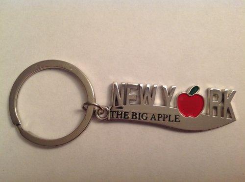 Knife Shaped New York Big Apple Key Ring