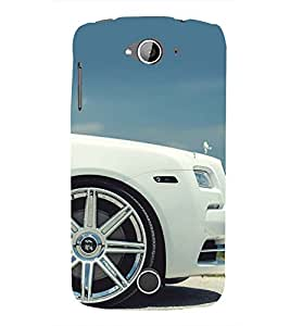 WHITE LUXURIOUS CAR SIDE VIEW 3D Hard Polycarbonate Designer Back Case Cover for Acer Liquid Z530