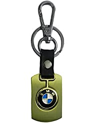 Techpro Premium Quality Gold Colour Metal Keychain With BMW Design
