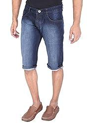 WineGlass Non-Strechable Shorts Fit Men's Blue Jeans 366CH Size -36