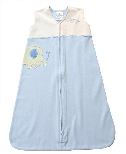 HALO SleepSack 100% Organic Wearable Blanket Applique, Elephant, Medium