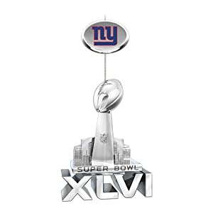NFL New York Giants 2012 Super Bowl XLVI Championship Ornament by The Bradford... by Bradford Exchange