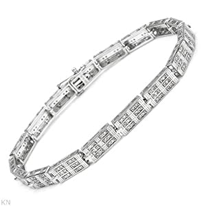 Genuine Morne Rouge (TM) Bracelet. 1.1 Ctw I2 Color H-J Diamonds Sterling Silver Bracelet. 15.8 grams in weight and 8.5 inches in length. 100% Satisfaction Guaranteed.