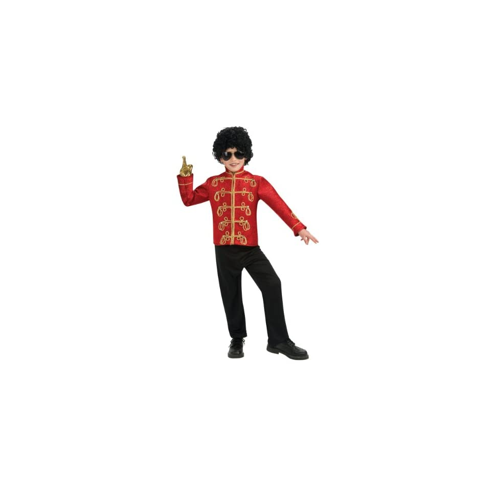 Lets Party By Rubies Costumes Michael Jackson Deluxe Red Military Jacket Child / Red   Size Small (4 6)