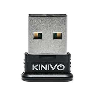 Kinivo BTD-400 Bluetooth 4.0 USB Adapter - Pour Windows XP / Vista / 7 / 8 / 8.1 - Compatible avec un casque stéréo Bluetooth et d'autres périphériques Bluetooth