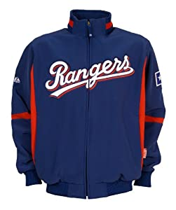 MLB Texas Rangers Long Sleeve Therma Base Premier Jacket by Majestic
