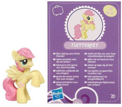 My Little Pony Friendship is Magic 2 Inch PVC Figure Fluttershy Purple Card - 1