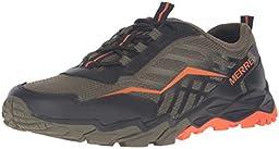 Merrell Boys Hydro Run Running Shoe (Toddler/Little Kid/Big Kid), Olive/Black/Orange, 13 W US Little Kid