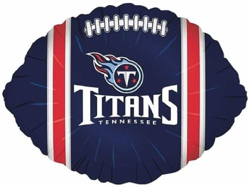 "Anagram International Tennessee Titans Flat Party Balloons, 18"", Multicolor"