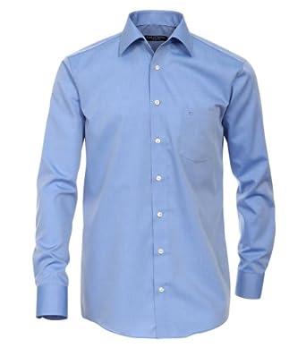 CASAMODA Herren Loose Fit Business Hemd 006060, Gr. Kragenweite: 38, Blau (blau 13)