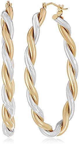 14k-Yellow-Gold-Bonded-Sterling-Silver-Twisted-Hoop-Earrings
