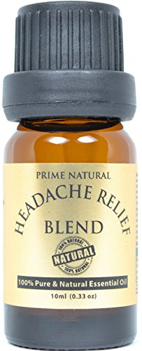 Headache Relief Essential Oil Blend 10ml / 0.33oz - 100% Natural Pure Undiluted Therapeutic Grade for Aromatherapy, Scents & Diffuser - Migraine, Tension, Relaxation, Stress Relief, Anxiety Relief