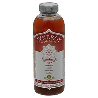 GTs Enlightened Synergy Organic and Raw Kombucha Strawberry Serenity